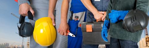 cascos, guantes, máscaras... algunos elementos necesarios para garantizar una correcta seguridad en el trabajo