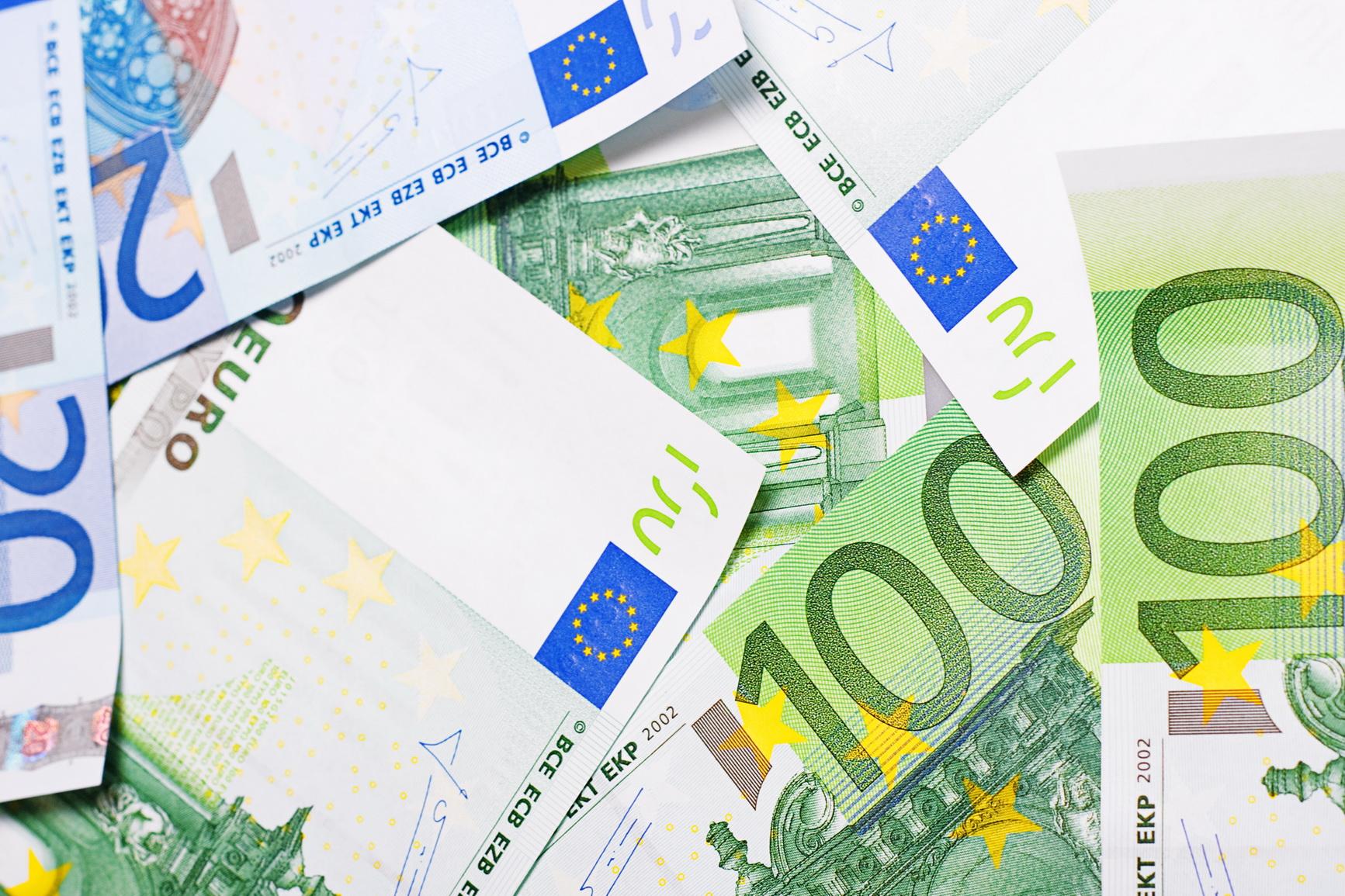 Billetes de euro. Se han tenido que tomar medidas con la emisión de los billetes de 500 para evitar el blanqueo de capitales