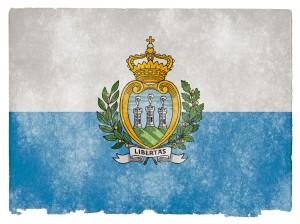 Bandera de San Marino, que junto con la Unión Europea trata de reducir la evasión fiscal