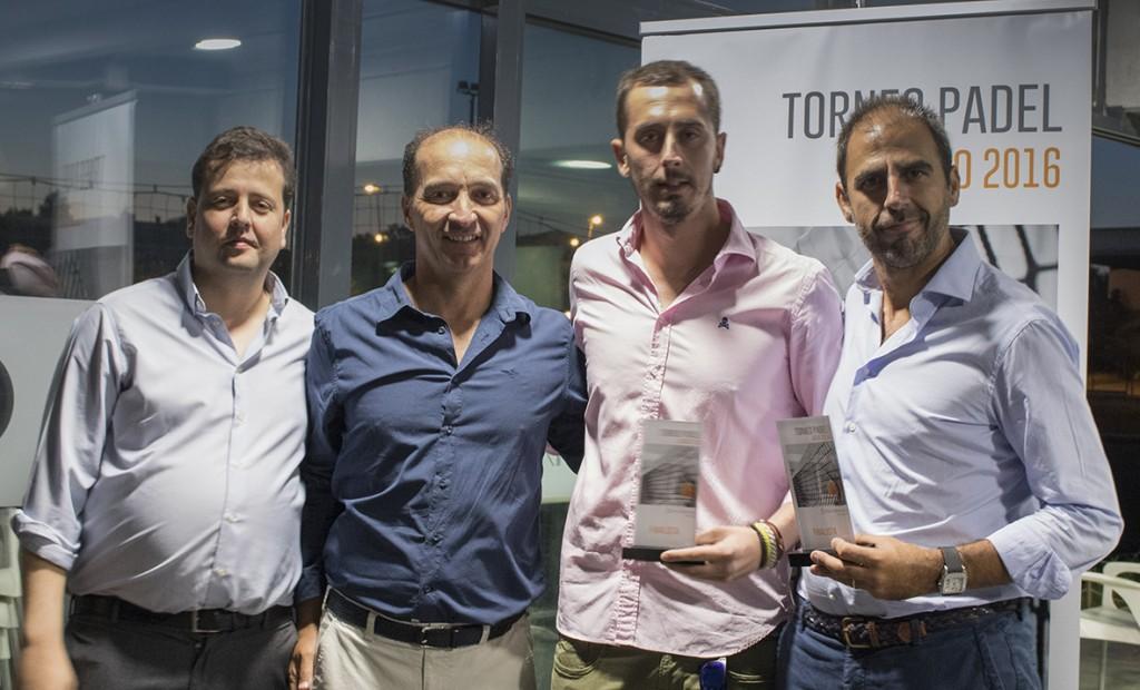 Antonio Laguna y Sergi Puig se proclamaron finalistas masculinos del 4º Torneo de pádel de Conversia