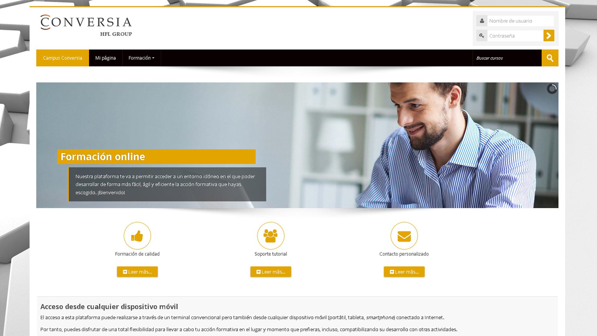Conversia ofrece servicios de formación online