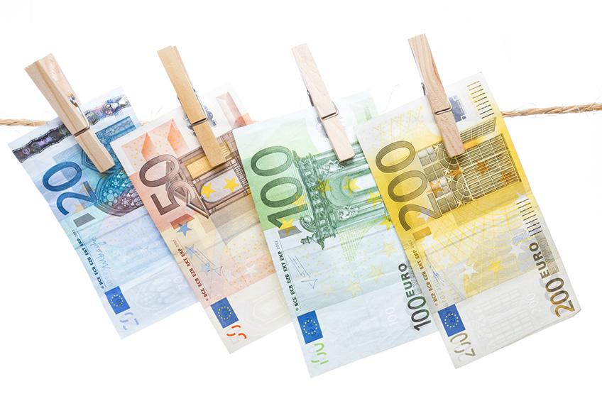 Billetes de euro. Los billetes de 500€ se eliminarán de circulación para prevenir el blanqueo de capitales