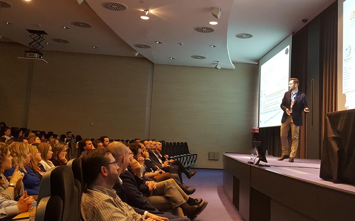 El Director de Clientes de Conversia, Jordi Giménez, durante su ponencia en la Convención 2017 de Conversia
