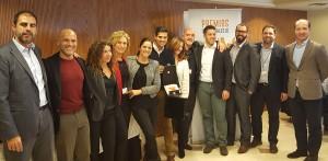 El equipo comercial de la Delegación de Barcelona Norte recogiendo el 2º Premio a Mejor Delegación - Convención Conversia 2017