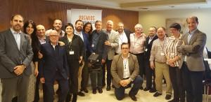 El equipo comercial de la Delegación de Baleares recogiendo el 1r Premio a Mejor Delegación - Convención Conversia 2017