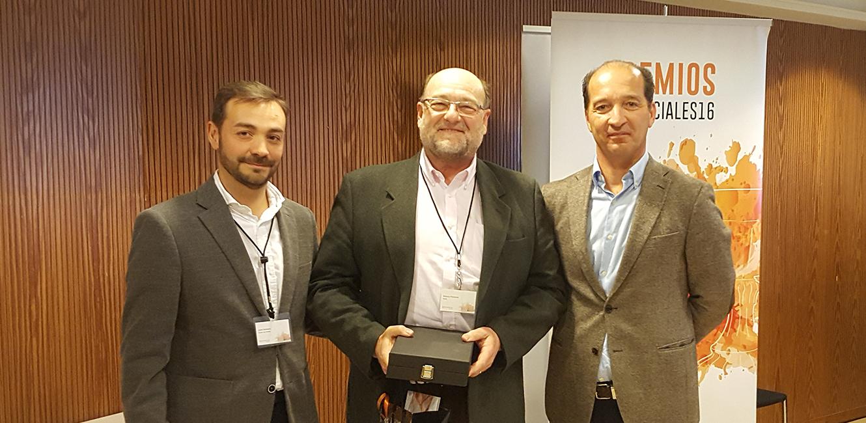 Antonio Florencio recogiendo el 3r premio de la categoría de Mejor Auditor - Convención Conversia 2017