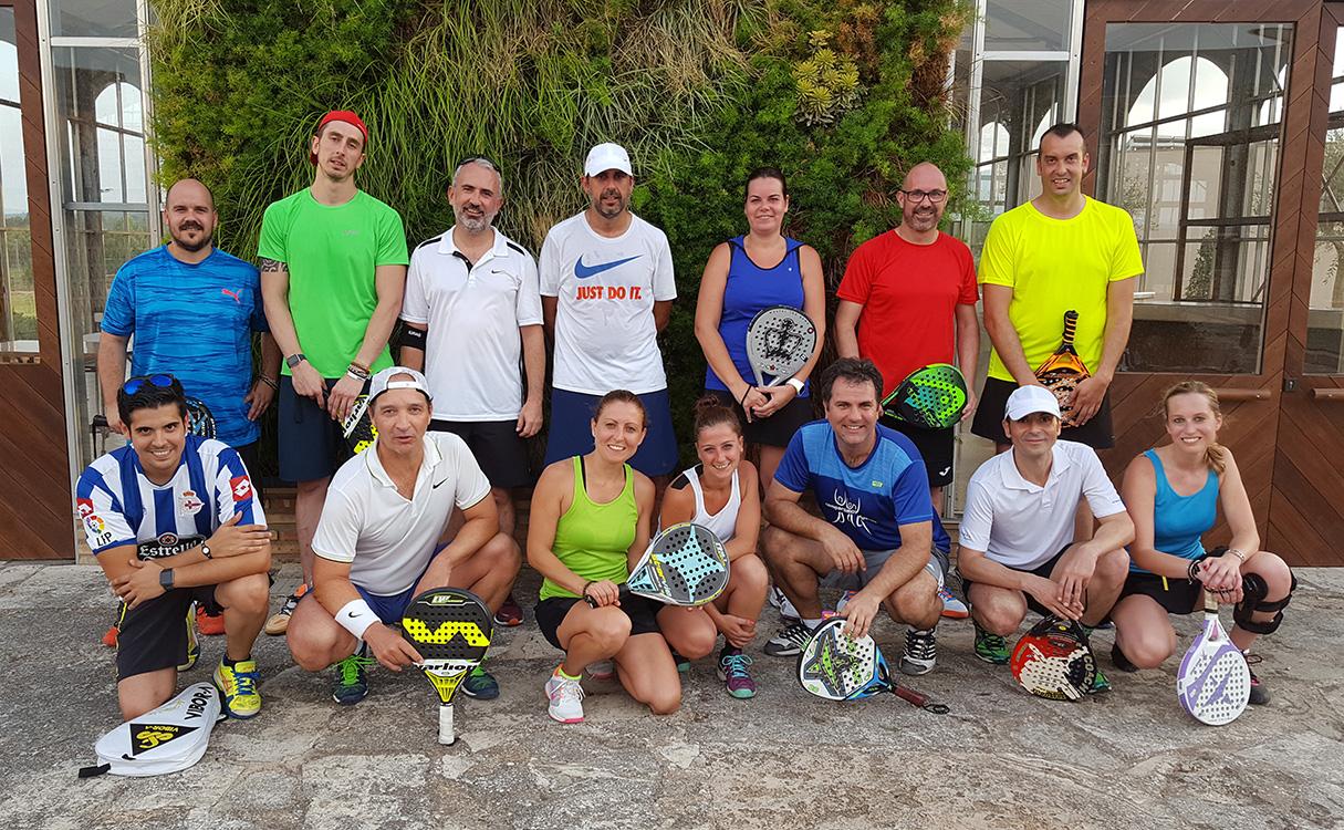 Los participantes del Torneo de Padel - Workshop Team Conversia