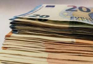 Fajo de billetes de 50€ y 20€ procedente del blanqueo de capitales