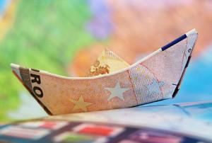 barco con billet de 50 euros