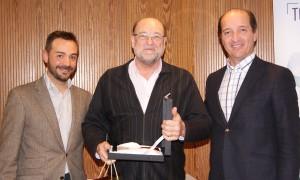 Antonio Florencio recogiendo el 3er premio de la categoría de Mejor Auditor durante la Convención 2018 de Conversia