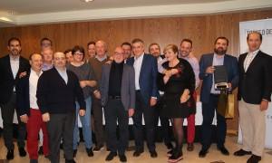 El equipo comercial de la Delegación de Baleares recogiendo el 1er Premio a Mejor Delegación durante la Convención 2018 de Conversia