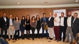 El equipo comercial de la Delegación de Barcelona Norte recogiendo el 2º Premio a Mejor Delegación durante la Convención 2018 de Conversia