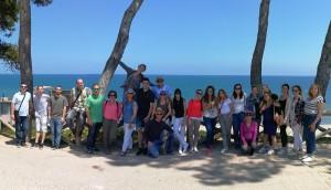 Foto de grupo de los participantes de Conversia en Sant Martí d'Empúries.