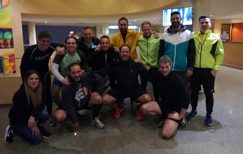 Los participantes que realizaron la actividad de Running por Castelldefels. Convención Conversia 2019