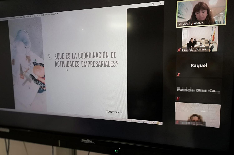 Conversia imparte una sesión formativa online a los miembros del COAFGA en materia de PRL